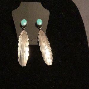 Jewelry - GORGEOUS VINTAGE NATIVE AMERICAN EARRINGS